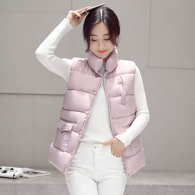 New Women's Long Vest Waistcoat 2016 Ladie's Winter Vest Jacket Sleeveless Hooded Down Cotton Thick Warm Vest Female