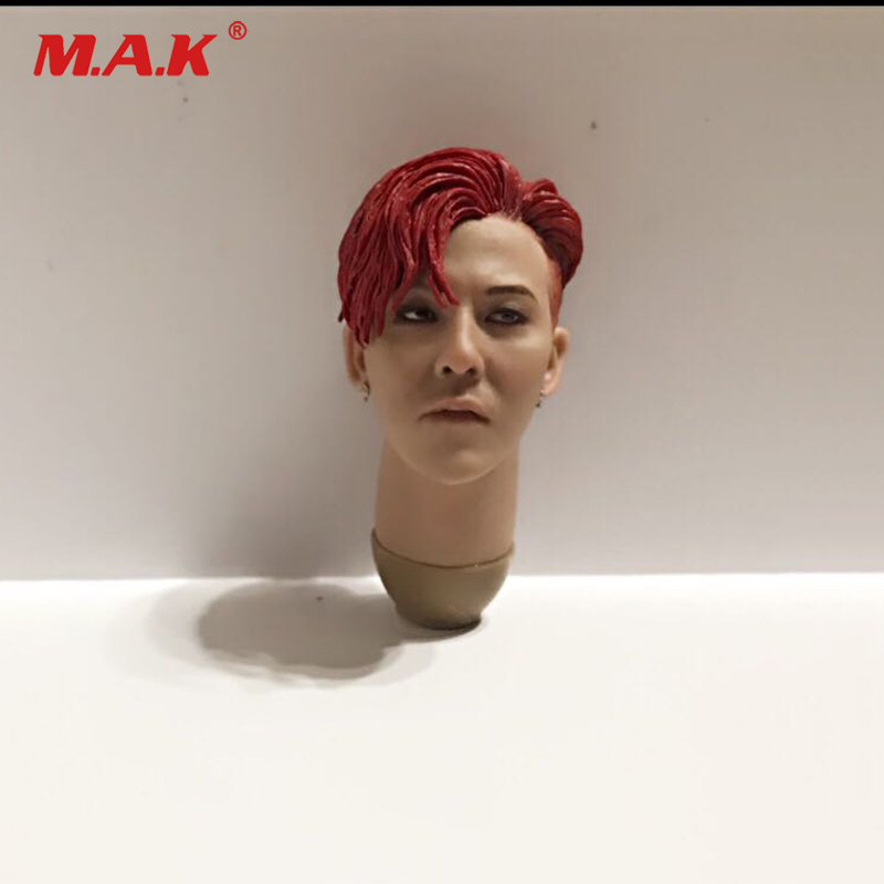 купить Big bang 1/6 Scale G-DRAGON Head Sculpt Head Carving Model Collectible Doll Toys Accessories по цене 2896.69 рублей