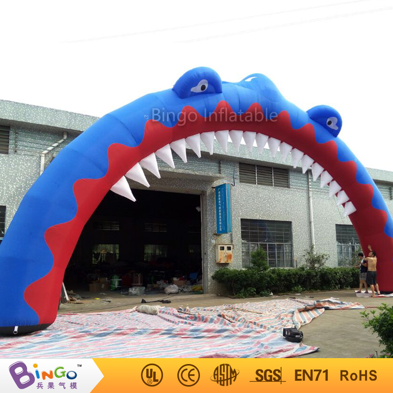 inflatable model toy 14m ocean sea series inflatable shark arch fish arch sea arch for adversting commercial sea inflatable blue water slide with pool and arch for kids
