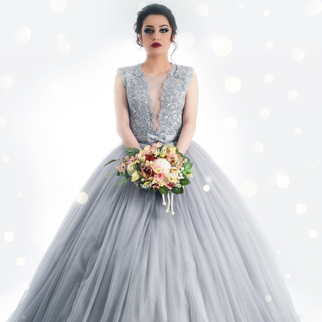 Vestido De Noiva 2017 New Elegant Lace Applique Tulle: New Arrival Charming Silver Gray Ball Gown Tulle Lace