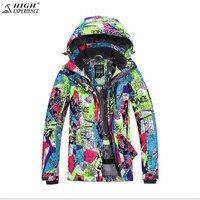 2017 Winter Ski Jacket Women .Free Freight High Experience New Snowboard Wear, Female Windproof, Warm Breathable Ski Suit,