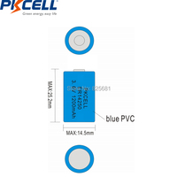 10Pcs PKCELL 1/2AA Battery 3.6V ER14250 LiSOCl2 Batteries 14250 1200mAh For GPS Lithium Battery Replace Saft LS14250 2