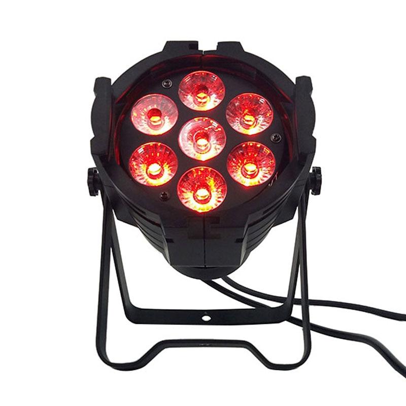 LED PAR может 7x12 Вт Алюминий сплав LED PAR RGBW 4in1 DMX512 стирка DJ этап света дискотека свет DJ Освещение