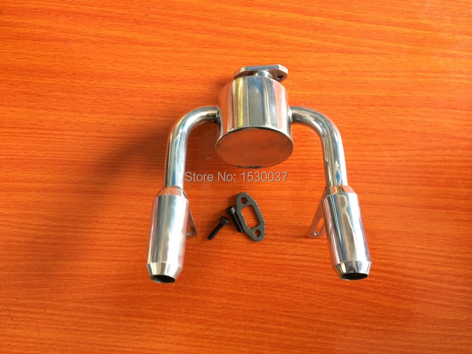 ФОТО Duel Upgrade Exhaust/Tuned Pipe for 1/5th DDM RC Gas Model Car/Buggy/Truck Baja