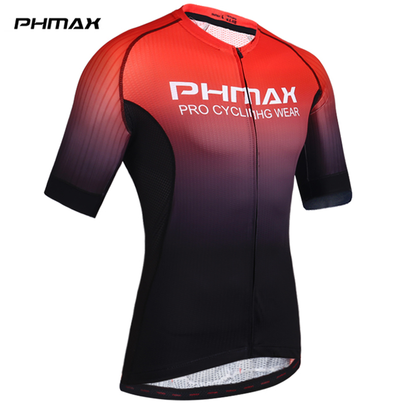 PHMAX Pro Cycling Jerseys Short Sleeve Cycling Clothing MTB Bike Clothing Summer Road Bicycle Jerseys Men's Cycling Uniform