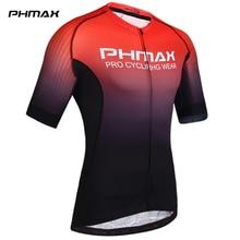 PHMAX Pro Cycling Jerseys Short Sleeve Cycling Clothing MTB Bike Clothing Summer Road Bicycle Jerseys Mens Cycling Uniform