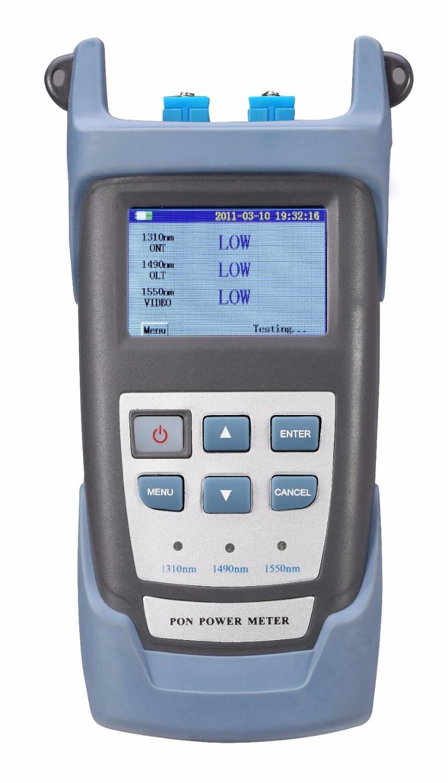 Handheld PON Optical Power Meter with PON Network Testing Wavelength (1490nm, 1550nm,1310nm)  ONT  OLT, P100