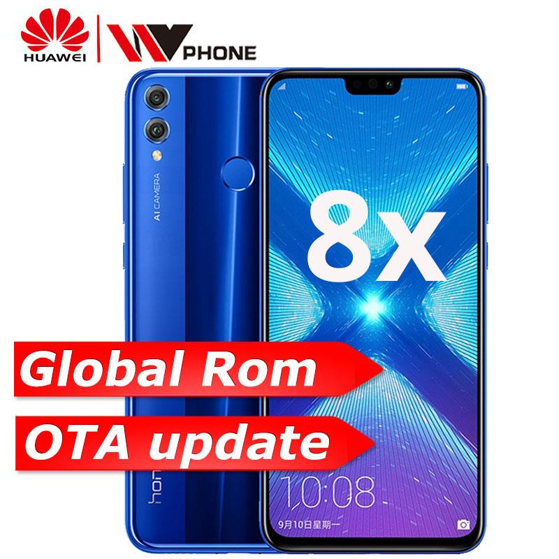 Global Rom Huawe Honor 8X 6.5'' full Screen OTA update Smartphone not 8x max Mobile phone Android 8.1 Octa Core fingerprint ID(China)