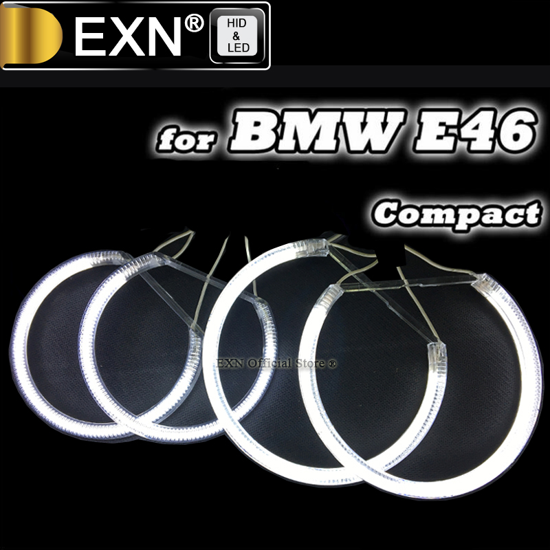 Ultra Bright Ccfl Angel Eye Ring Halo Rings for BMW E83 X3 E46 Compact Car Headlight 4 Rings + 2 Inverters Ccfl Angel Eyes Kit колесные диски replay a46 8x17 5x112 d66 6 et47 gmf