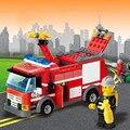 Fire Truck Blocks Fireman Sam Building Blocks Educational TOYS DIY Fire Engine Brick Toys Gift For Children Compatible Legoelied