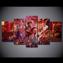 5 Pieces Printing Top-Rated Canvas Painting Movie Coco Migo And Ector Type Poster Home Decor Modern Bedroom Living Room Artwork