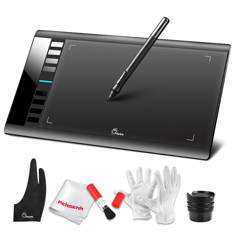 Parblo A610 Digital Graphics Tablet 2048 Level Pen 5080LPI Drawing Painting Tablet+ Anti-fouling Glove + Gift цена