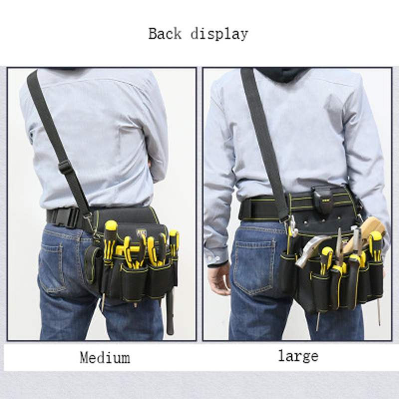 1pcs Drill Holder Tool Bag Pouch For Drill Screwdriver Waist Tool Belt Bag Cordless Tool Oxford Hand Tools Set Portable Kit Good Taste Tool Organizers