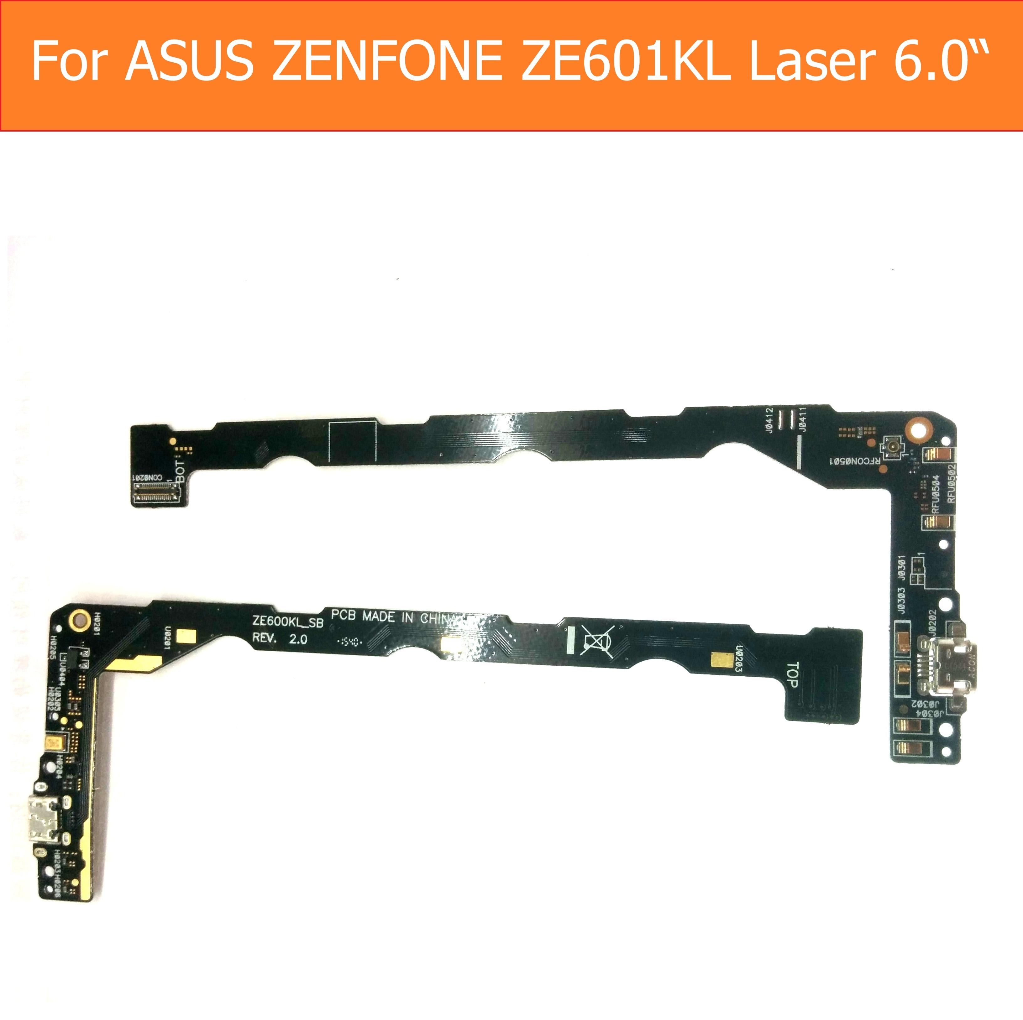 Genuine USB Charging Microphone PCB Connector Port Jack Board For Asus Zenfone 2 ZE601kL Z0011D Laser 6.0