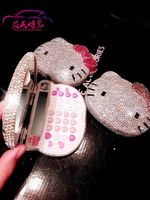 Calculator Paste Stickers Diamond Rhinestone Hello Kitty Crystal Gem Computer Gifts