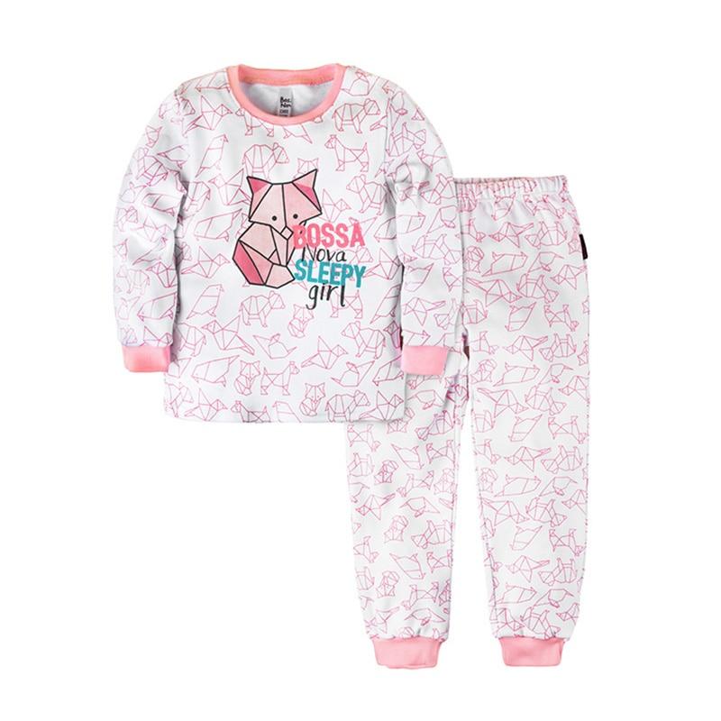 Pajama set shirt+pants for girls BOSSA NOVA 356o-371r letter print cami and ruffle shorts pajama set