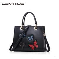 Lavimos Bridal Bag Designer Handbag Messenger Tote Shoulder Crossbody Black Chinese Style Handbag Butterfly Applique Trunk