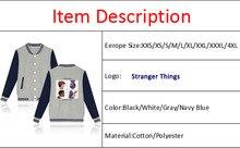 Stranger Things Alphabet Baseball Jacket
