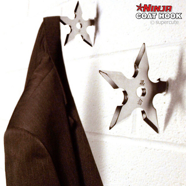 Cool Coat Hanger Aliexpress  Buy 100% Original Metal Ninja Star Coat Hook .