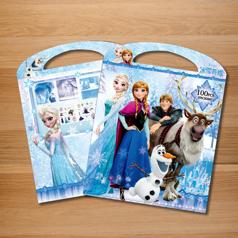 Disney Anna and Elsa Cartoon Sticker books  Frozen Mickey Mouse Minnie Princess Bubble Stickers book Paste ToysDisney Anna and Elsa Cartoon Sticker books  Frozen Mickey Mouse Minnie Princess Bubble Stickers book Paste Toys