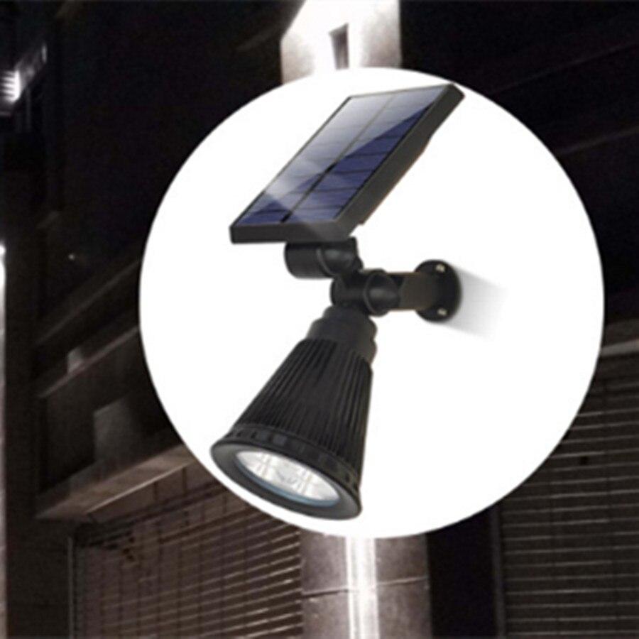 Solar powered inground Lawn 4LED Outdoor Garden Lighting / LED Waterproof Rotating Solar Spot Lighting