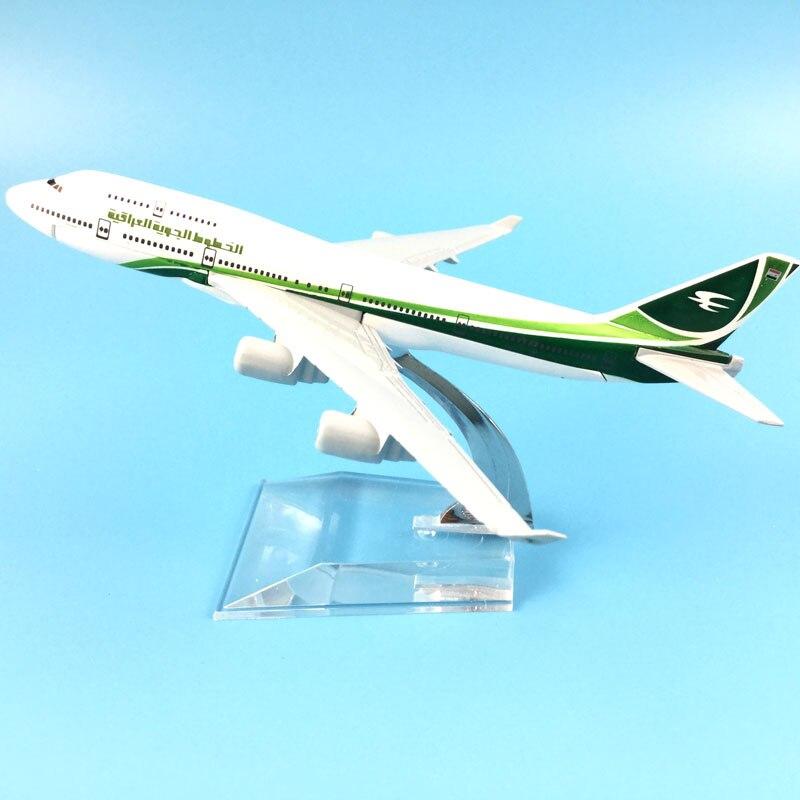 TOY AIRPLANE Aircraft-Model AIRWAYS Birthday-Gift IRAQI METAL 747 16CM