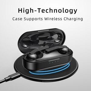 Image 3 - Wei auriculares T10C TWS, inalámbricos por Bluetooth, auriculares originales con Control táctil, auriculares manos libres auténticos para iPhone