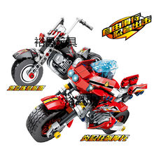2pcs/lot Hot Ninja Motorcycle Compatible legoingly Ninjagoed Building Blocks Bricks toys Kids Gift Kozu Echo Zane Pythor(China)