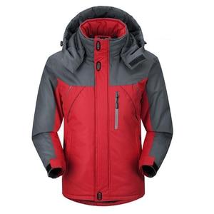 Image 2 - Jacket Men Winter Thick Fleece Waterproof Outwear Military Jackets Plus size 5XL Mens Windbreaker Army Parka Raincoat  Coats