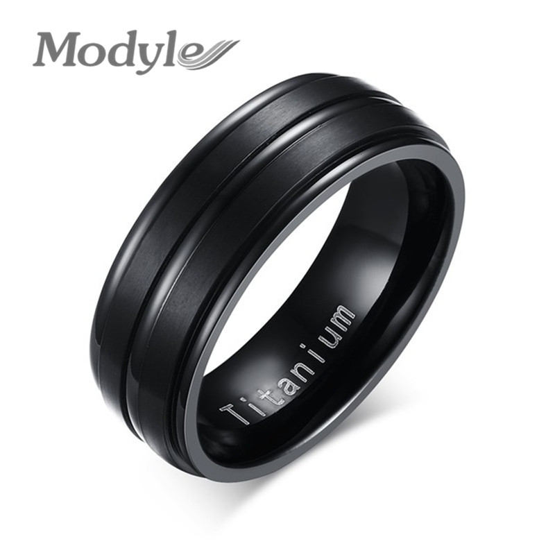 Modyle 2018 New Black Men Ring...