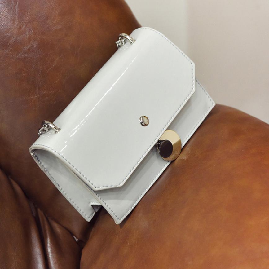 Женская мода Перл из лакированной кожи круглый железный сумка женская сплошной цвет пряжки небольшой площади клатч # f