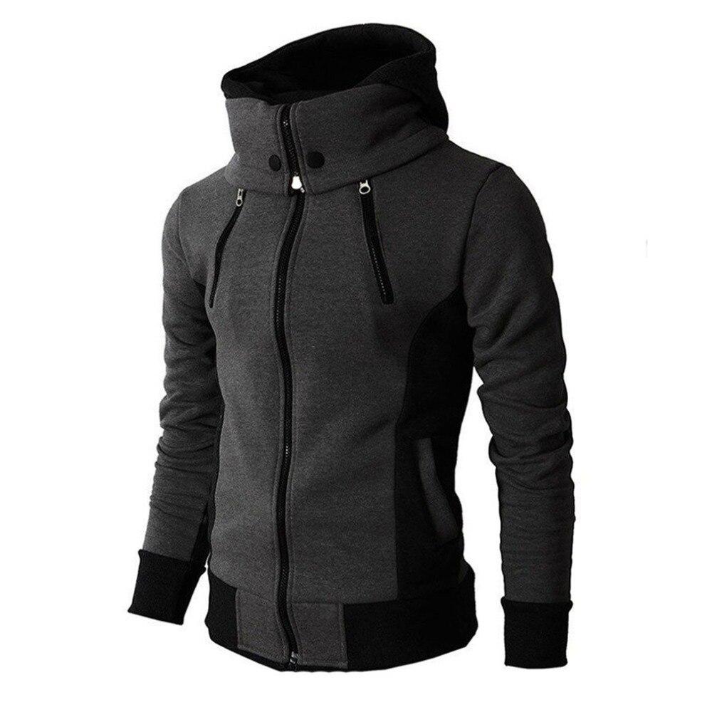 Hooded Sweatshirt Moletom Collar Streetwear Long-Sleeve Cotton Windproof Masculino Male