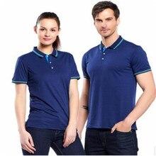 05fe3450 2018 Brand Summer Collar Polo Shirt Men's Short Sleeve Casual Men's Woman  Couple Shirt Slim Polo