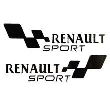 "Купить с кэшбэком TOARTI Free Ship 1 Pair Car Sticker New Waterproof ""Renault Sport "" Car Styling For All Car Covers Black White Red Yellow"