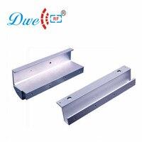 DWE CC RF Security access control electric lock bracket fully frameless glass door metal holder