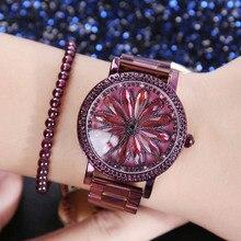 Fashion Women Watches 2019 Best Sell Flower Dial Clock Luxury Rose Gold Womens Bracelet Quartz Wrist New