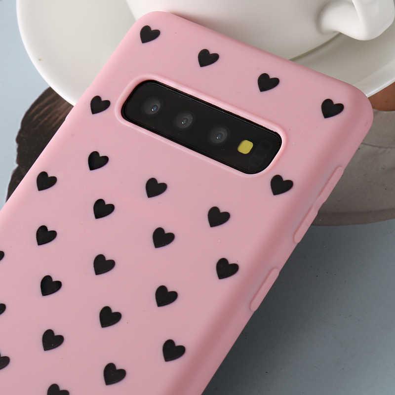 Bonito 3D Casal Amor Do Coração de Silicone Soft Case Para Samsung Galaxy S6 S7 Borda S7 S8 S9 S10 Além de lite s10E Nota 8 9