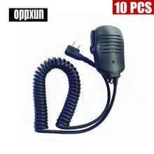10PCS 2 PIN Handheld Speaker Mic for ICOM IC-V8 Uniden Black IC-02 Radio Walkie Talkie