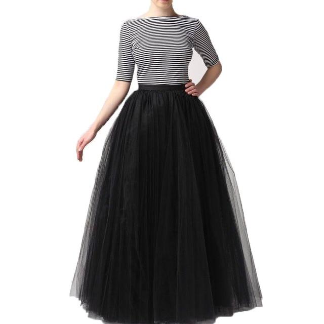 18d5f4c8944ff1 € 28.47 10% de réduction|Super Puffy Noir Tulle Jupe 2017 Mode Jupes Des  Femmes Des Femmes Maxi Longue Jupe Adulte Tutu Faldas Saias Toutes Les ...