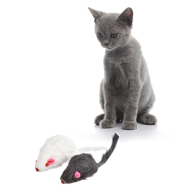 12 pz Mouse Vera Pelliccia Misto Caricato Giocattoli per Animali Domestici del G