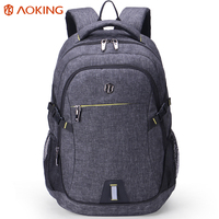 Aoking 2017 New Large Capacity Nylon Men Backpack Waterproof Travel Backpack With Reflector Laptop Backpack For