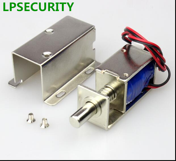 magnetic drawer lock lpsecurity 12v or 24v dc mini electric metal small bolt 22974