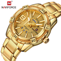 NAVIFORCE Top Luxury Brand Men Watches Golden Elegant Male Clock Popular Wrist Watch Modern Casual Business