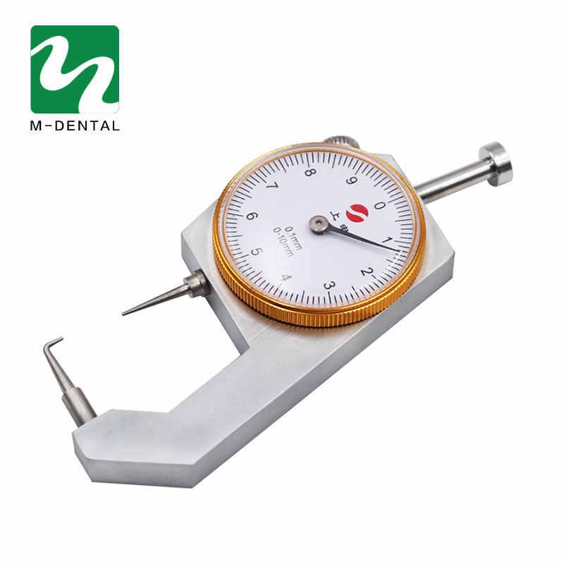 1 PC Gigi Caliper Alat Ukur Ketebalan 0-10*0.1 Mm Caliper dengan Logam Mengukur Ketebalan Lab Gigi alat Alat Dokter Gigi