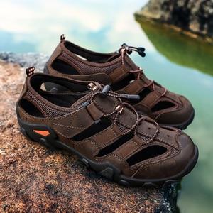 Image 2 - ZUNYU صندل عادي لينة جلد أصلي للرجال أحذية الصيف جديد كبير الحجم 38 48 رجل الصنادل موضة الرجال الصنادل النعال الصنادل