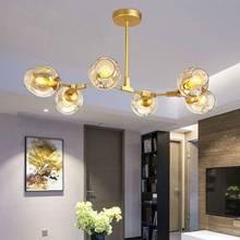 Arañas de diseño en el Nordic idea ramas lámpara colgante bola de cristal droplight lámpara de post-moderna de arte
