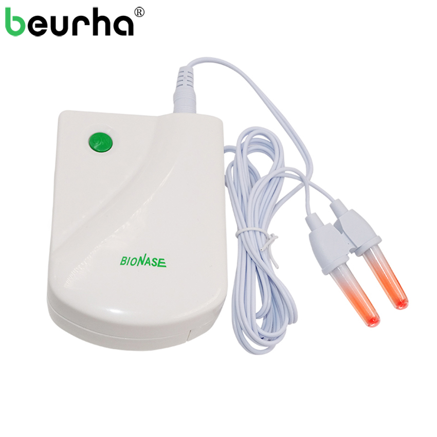 Nose BioNase Rhinitis Sinusitis Laser Cure Therapy Massager Hay Fever Low Frequency Pulse Laser Therapentic Masseur Health Care high quality allergy reliever low frequency laser allergic rhinitis nose therapy massager machine health monitor