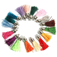 Фотография Tassel Hot Vintage 100pcs Tassel Pendants For Keychain Cellphone Straps Fringe DIY Charms Purl Macrame Jewelry Findings 45mm