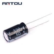 20PCS 330UF 50V Electrolytic Capacitor SIZE 10X17mm