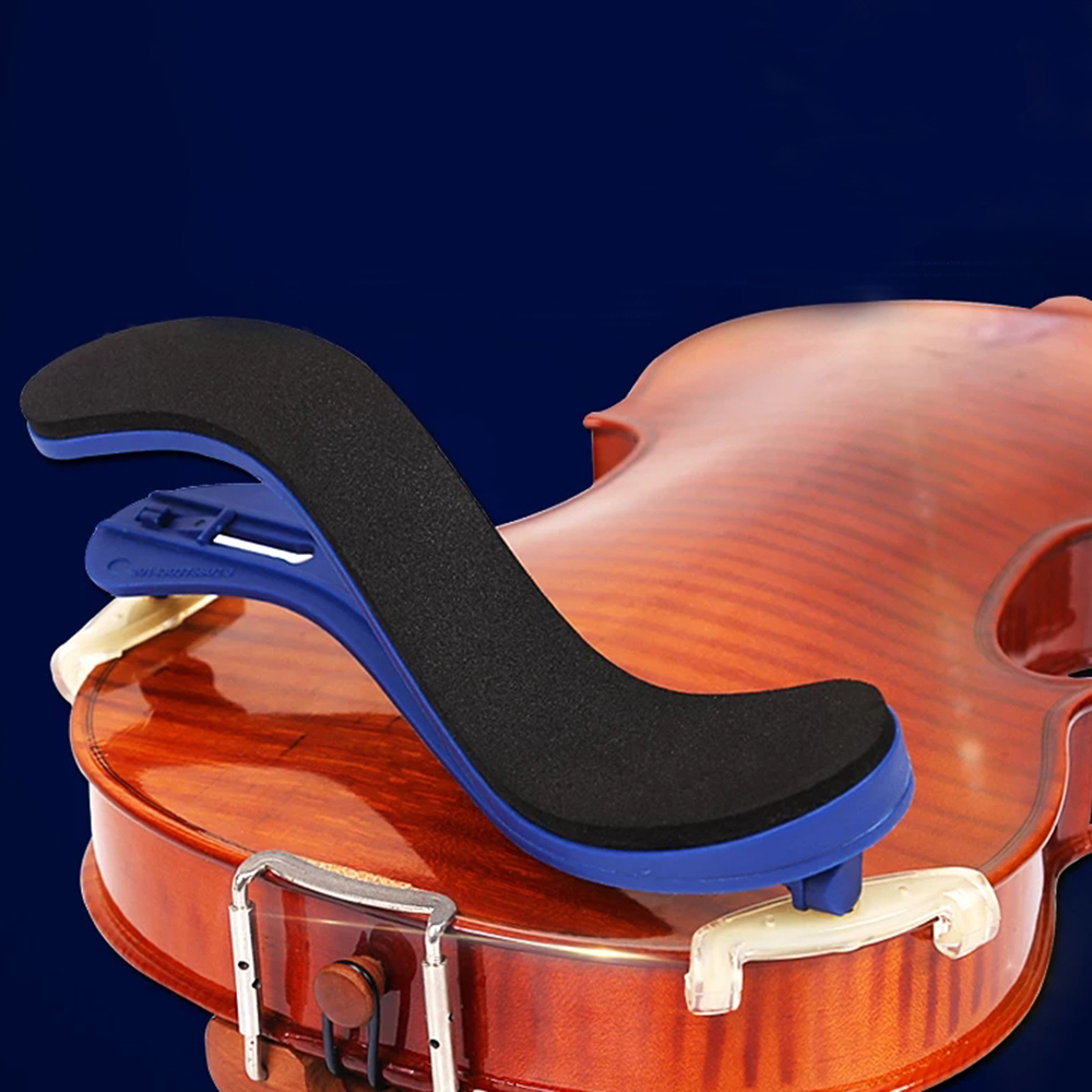 Fom Adjustable Elasticity Plastic Violin Shoulder Rest For 3/4 4/4 Size Fiddle Musical Instruments Violin Parts Fom Quality ABS 5pcs professional violin use black 5 prong rubber 4 4 3 4 violin silencers fiddle practice mutes for violin accessories